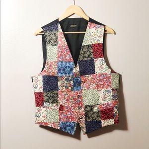 Liberty of London Patchwork Floral Vest Waistcoat
